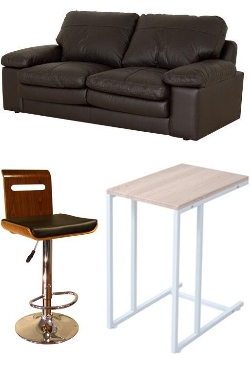 家具画像 ソファ カウンターチェア サイドテーブル